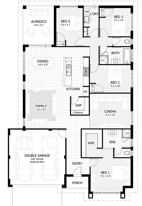 Single Floor Home Plans by House Designs Perth New Single Storey Home Designs