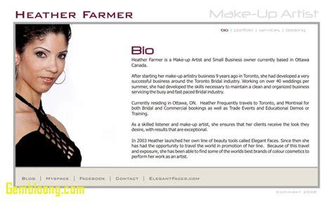 makeup artist bio template bio for artist inspirational makeup artist bio exles