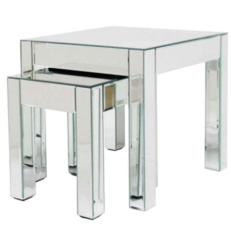 mirrored nest of tables mirrored nest of tables from debenhams nests of tables
