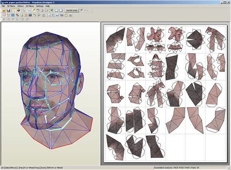 Paper Craft Software - papercraft self portrait l auto portrait 3d en papier