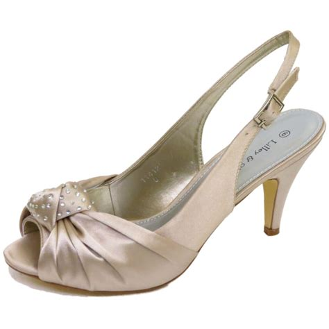 Strappy Bridal Shoes by Gold Satin Bridal Bridesmaid Strappy Wedding