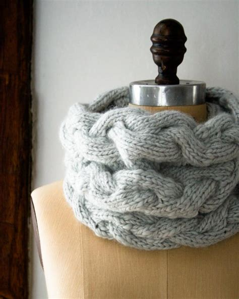 free knitted cowl patterns cables braided cable cowl purl soho create