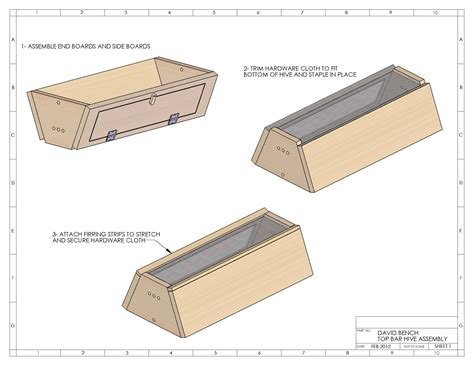 Top Bar Hive Plans by Top Bar Hive Plans David Bench