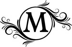 Free Monogram Templates Letter M Monogram Clipart Clipartsgram Com