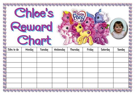 Printable Reward Charts My Little Pony | 6 best images of ariel chore chart printable kids chore