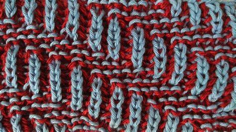 two color brioche stitch diagonal two color brioche stitch knitting pattern free