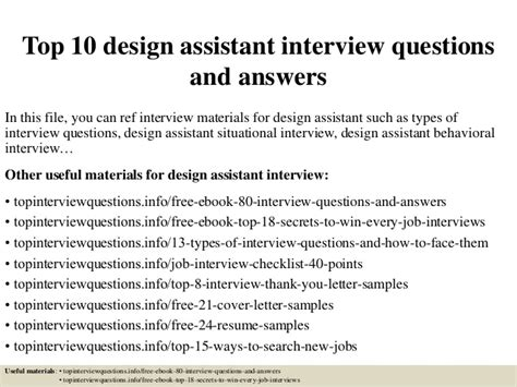 intel layout interview questions top 10 design assistant interview questions and answers