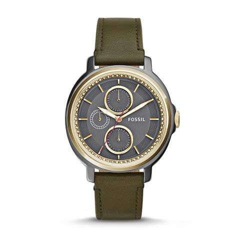 Fossil Chelsey Es3682 chelsey multifunction olive leather fossil