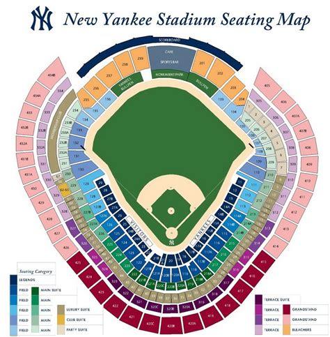 stadium seating chart yankee stadium bronx ny seating chart view