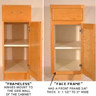 Frameless Cabinet Doors by There Are Two Basic Types Of Cabinets Quot Frame Quot Type