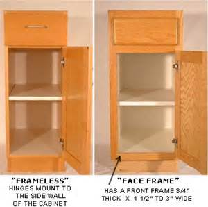How To Reface Kitchen Cabinet Doors european frameless vs american face frame cabinetry