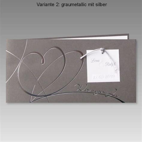 Hochzeitseinladungen Grau by Elegante Hochzeitseinladung In Grau Mit Wir Sagen Ja