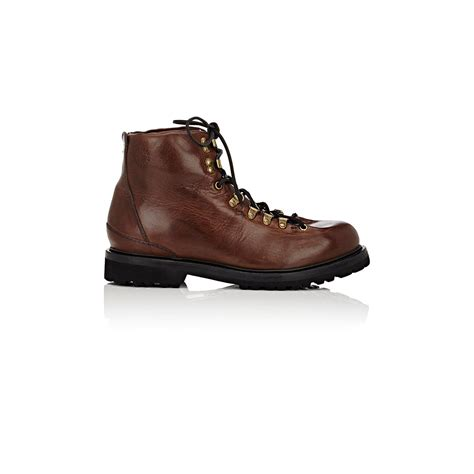buttero boots buttero s hiking inspired boots in brown for lyst