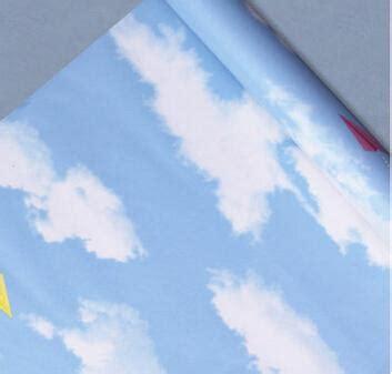 Wallpaper Sticker Ukuran 45cm X 10m Wall Paper Kode Wps17 sweet bedroom blue sky and white clouds children