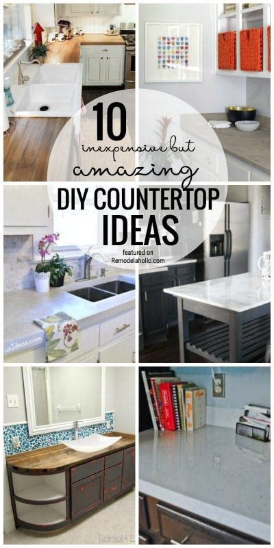 cheap kitchen countertops ideas remodelaholic 10 inexpensive but amazing diy countertop ideas