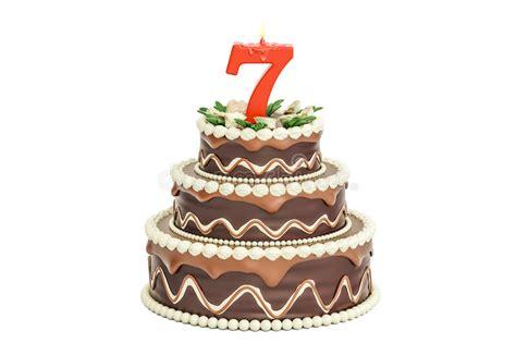 torta de cumplea 241 os con las velas del cumplea 241 os torta de cumplea 241 os del chocolate con la vela n 250 mero 7