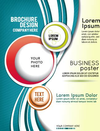 cover design vector download abstract with round brochure cover design vector free