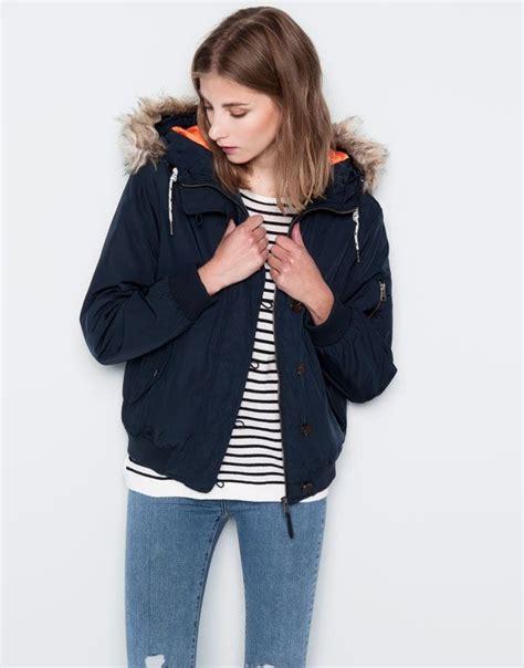 Pull Fur Navy Maroon Jacket Wanita pull coats bomber jacket with fur navy 05711327 i2014 wish list