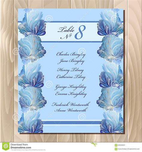 Wedding Background List by Table Guest List Winter Frozen Glass Design Wedding