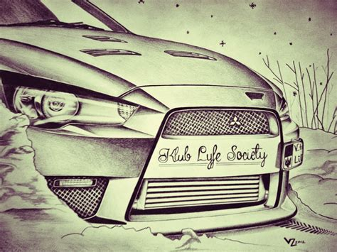 mitsubishi evo drawing mitsubishi lancer evo mr10 drawing by vtahlick on deviantart