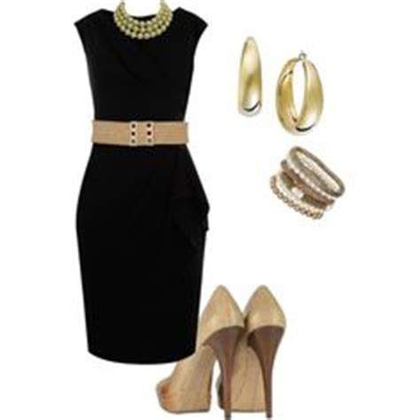 black dresswith gold accessories nice outfits