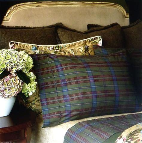 adriana ralph lauren nip 350 ralph 4pc olive green plaid sheet set 100 cotton
