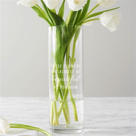 personalised these flowers vase by becky broome