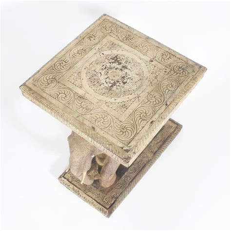Elephant Table L Rustic Anglo Indian Elephant Table At 1stdibs