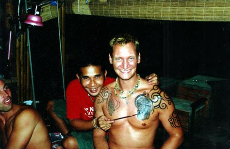 viking face with tribal big magic tattoo koh phangan