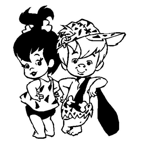 bam bam and pebbles coloring pages