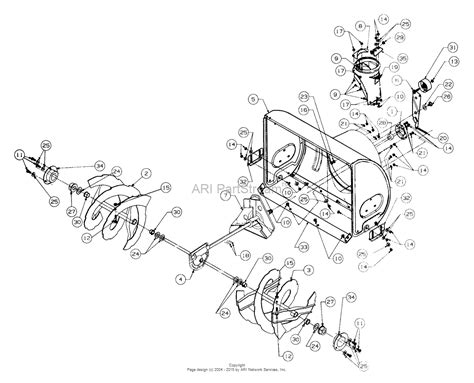 yardman snowblower parts diagram mtd 317e742f352 1997 parts diagram for blower housing