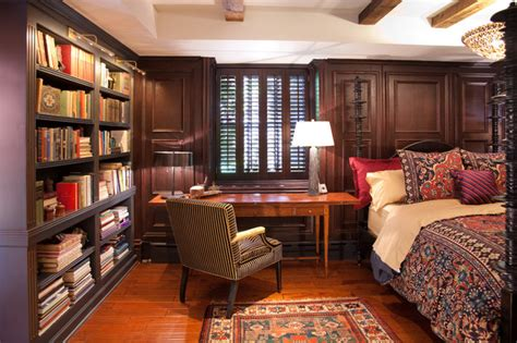 bedroom library historic schoolhouse loft traditional bedroom
