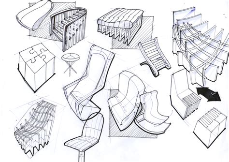 Furniture Design Sketches by Design Projects Silk Road