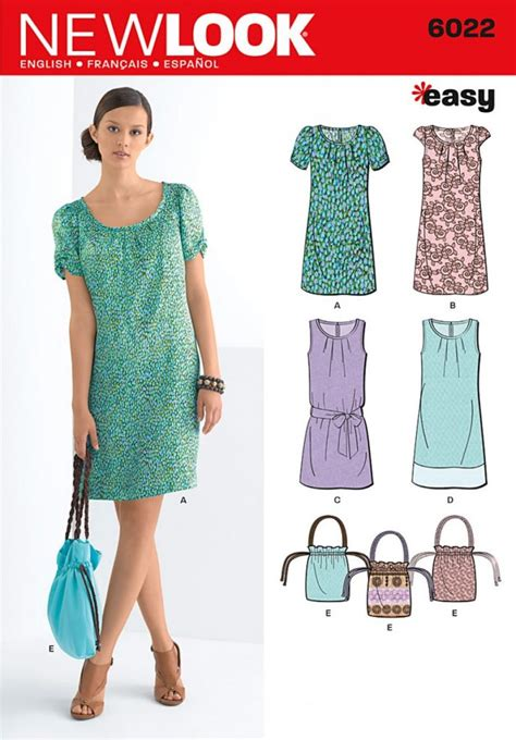 pattern new look new look pattern 6022 misses dresses bag sewing