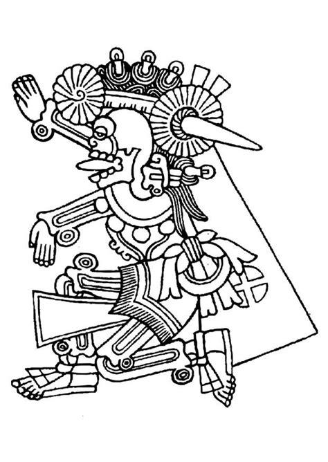 Dibujo para colorear Mictlantecuhtli - Dibujos Para