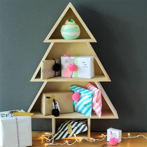 christmas shelf display alternative tree shelf set by berylune notonthehighstreet