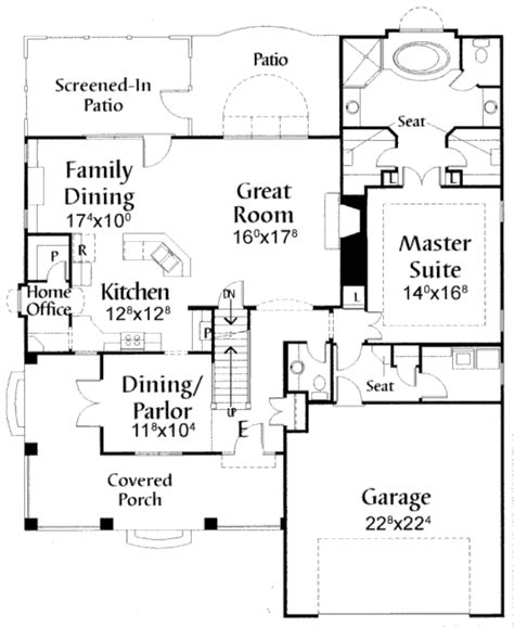 craftsman style house plan 4 beds 3 5 baths 2265 sq ft