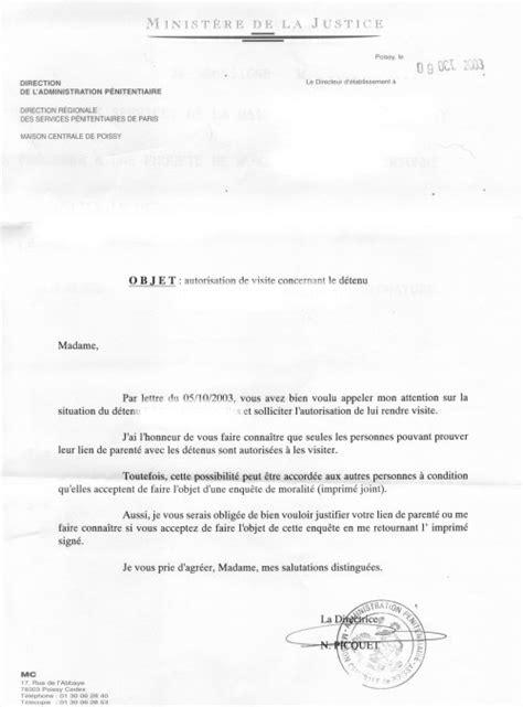 Demande De Lettre Pour Parloir Demande Visite Prison