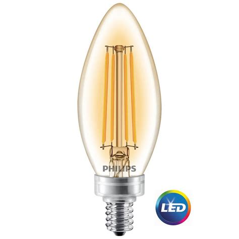 candelabra led light bulbs philips 40w equivalent soft white clear classic glass