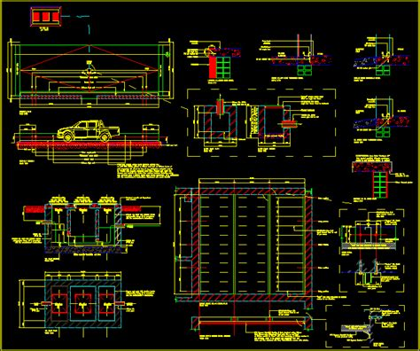 Draw House Plans To Scale carwash bay with grease traps in autocad drawing bibliocad