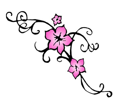 tattoo flower graphic clip art cherry blossom cliparts co