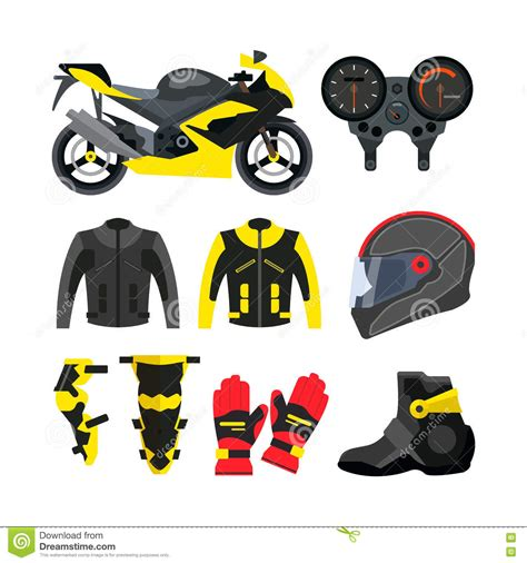 motorcycle accessories motorcycle helmet gloves and boots royalty free stock