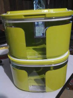 Window Canister 2 4l Tupperware nature and safe products 4 u guys jom borong