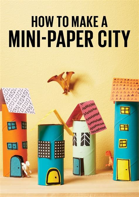 How To Make Toys Out Of Paper - how to make a mini city out of paper rolls paper towel