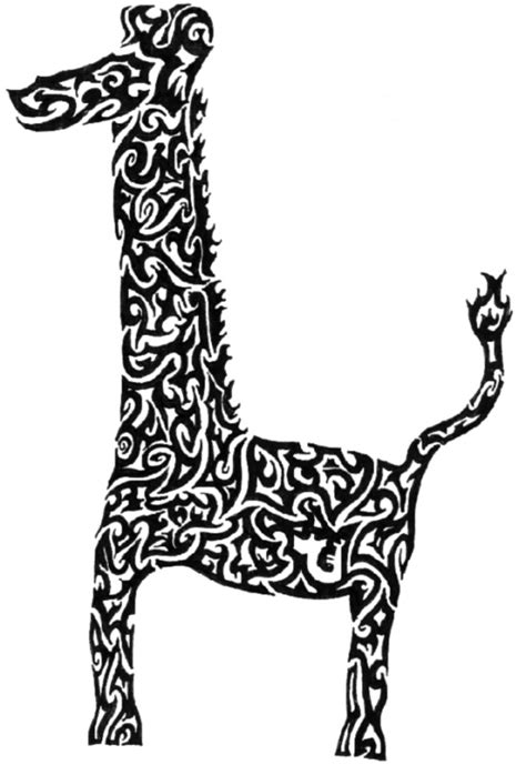 tribal pattern giraffe giraffe tribal drawing clipart best