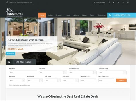 themes wordpress real estate free 43 best responsive real estate wordpress themes 2018