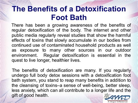 Ion Detox Machine Benefits the benefits of a detoxification foot bath