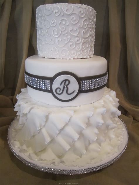 European Style Home by Jen S Ruffles Wedding Cake Sweet Discoveries