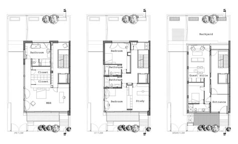 townhouse plans modern house