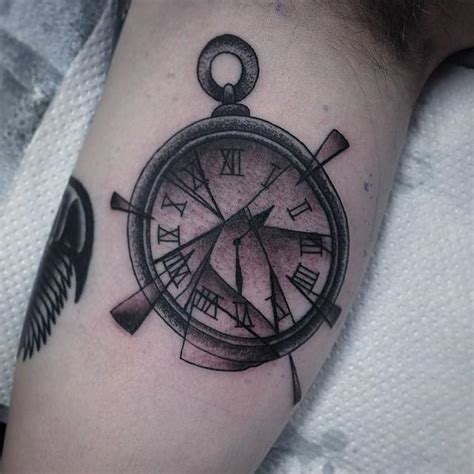 broken pocket watch tattoo broken pocket by chris winsor tattoonow